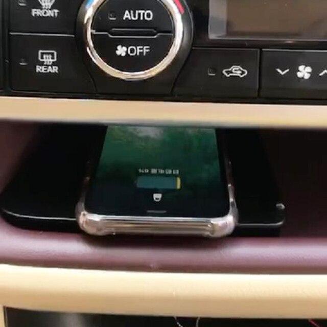 10W auto QI wireless charging handy ladegerät lade platte lade fall zubehör für Toyota Highlander 2015 2016 2017 2018