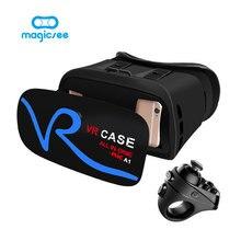VR КОРПУС V1 Все В ОДНОМ Очки Виртуальной Реальности для 4-5.0 дюйм(ов) Телефон 3D IMAX Сенсорное Управление Мобильный VR Очки + Пульт Дистанционного управления