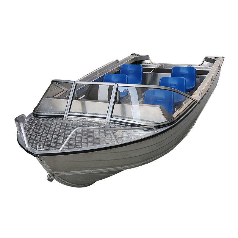 Simple A-style Aluminum Alloy Boat Fishing Ship Vessel Speedboat 4/6/8 person Assault Boat Water Sport