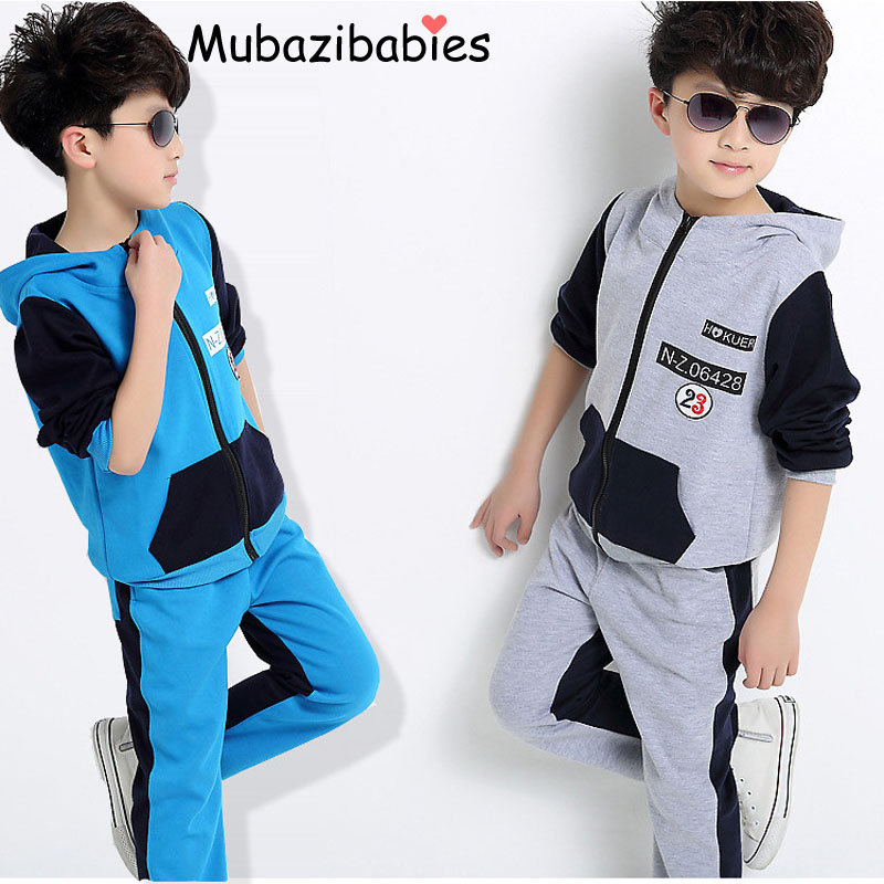 Spring Autumn Baby Boys Clothes Sets hoodies & pant 2 pcs cotton long sleeve kid boy tracksuit  Sport suit clothing set 5-16 Y 2pcs set baby clothes set boy