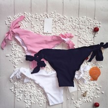 Pure Color Brazilian Thong Swimwear