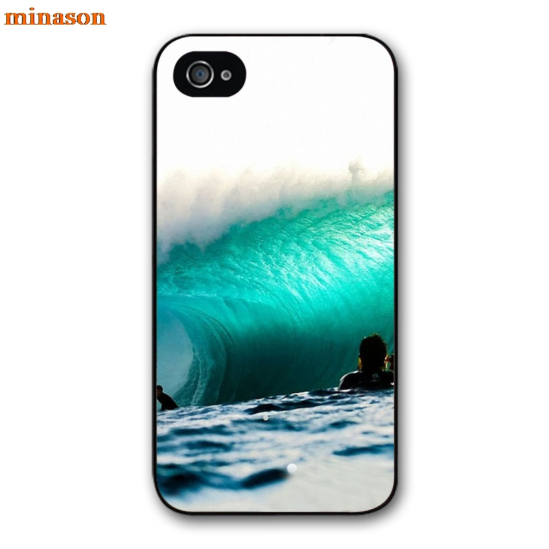 minason Surfing In <font><b>Hawaii</b></font> Ocean Scene Cover <font><b>case</b></font> for iphone 4 4s 5 5s 5c 6 6s 7 8 plus samsung galaxy S5 S6 Note 2 3 4 F2580