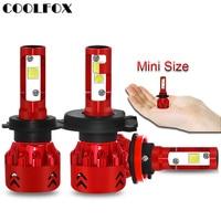 COOLFOX Car Light Bulb Ampoules Led Voiture H7 H11 LED Zenon Headlight Head Lamp H4 9005 9006 72w Lampe Auto Motorcycle Lights