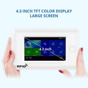 Image 3 - Fuers WIFI المنزل الذكي نظام إنذار أمان 3G مكافحة سرقة نظام 4.3 شاشة ملونة مقاس بوصة APP التحكم عن بعد PIR محس حركة