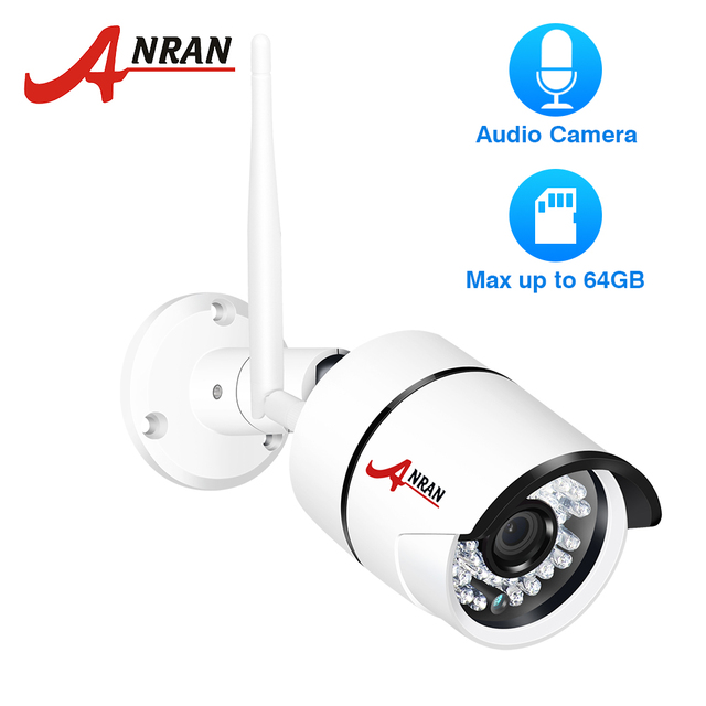 ANRAN 1080P IP Camera Wifi Outdoor Waterproof HD Security Camera Audio Record Wireless Surveillance Camera Built-in SD Card Slot