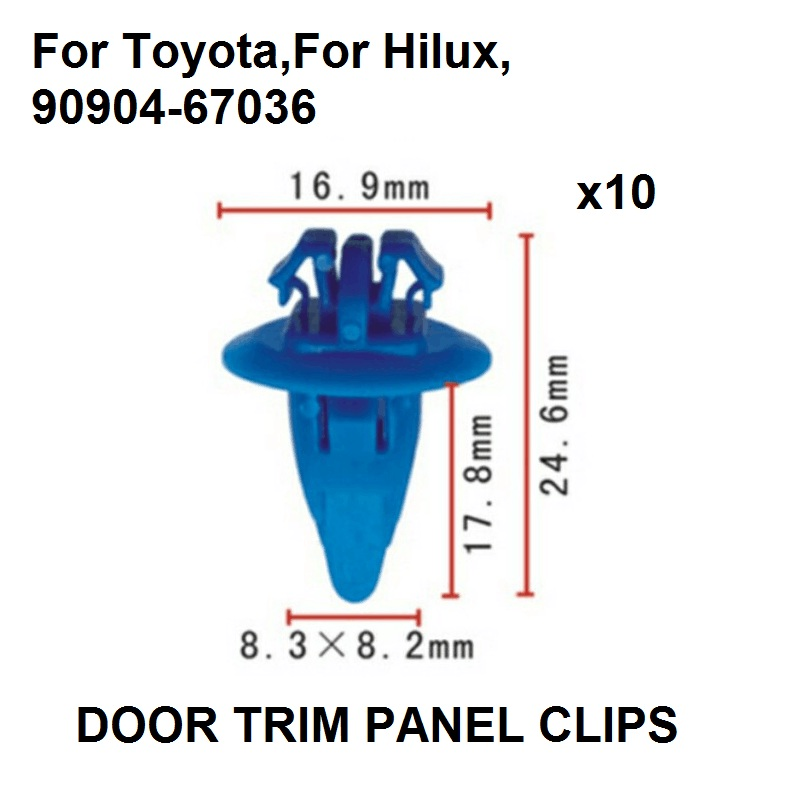 10x UNIVERSAL CLIP türpappen innenverkleidungs klips per Toyota Nissan Honda