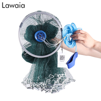 Lawaia Fishing Net USA Cast Nets Hand Throw Fly Fish networkDiameter 2.4 7.2m Small Mesh Gill Net With sinker