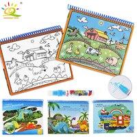 HUIQIBAO Игрушки Животные Динозавр водный рисунок книга с магией стило перьевое картина-раскраска книги доска обучающие игрушки для детей