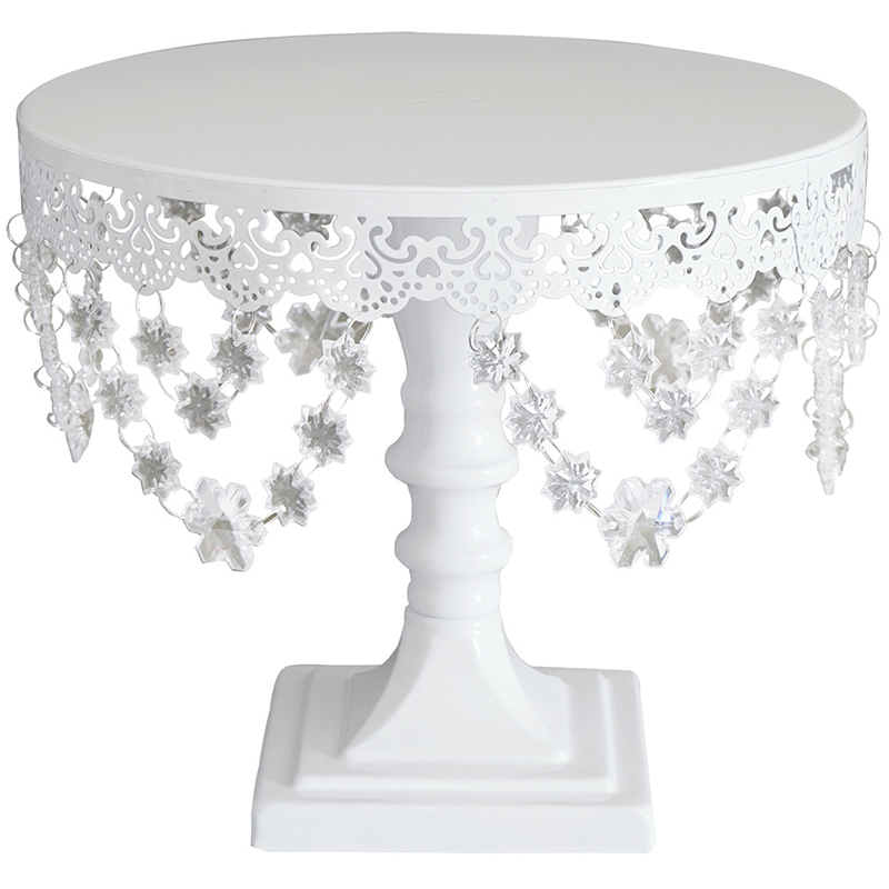 Hot Sale Sweetgo Snow Crystal Cake Stand For Fondant Baking Tools For Wedding Party Event Dessert Plate Lace Edge Cake Pops Sw