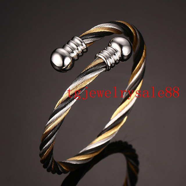 Top Hot Sale Silver Gold Black Tone Twisted Wire Cable Chain ...