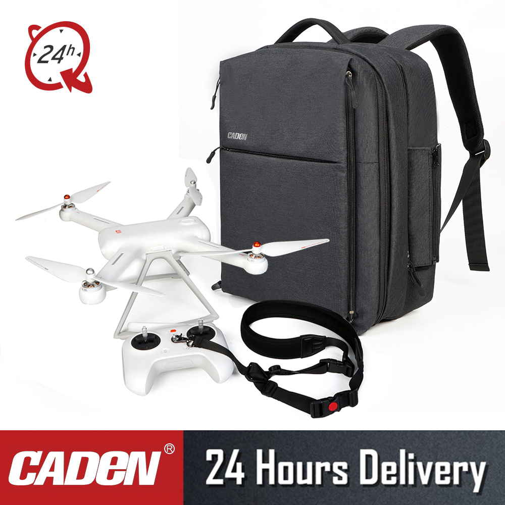2018 CADeN pour Xiao mi DJI Drone sac d'affaires sac de voyage imperméable en Nylon avec couverture de pluie pour Xiao mi Drone sac à dos caden W8-in Sacs pour appareil photo from Electronique    1
