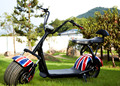 Two people seat disk break Harley electric scooter 12AH lithium battery 40km fast speed