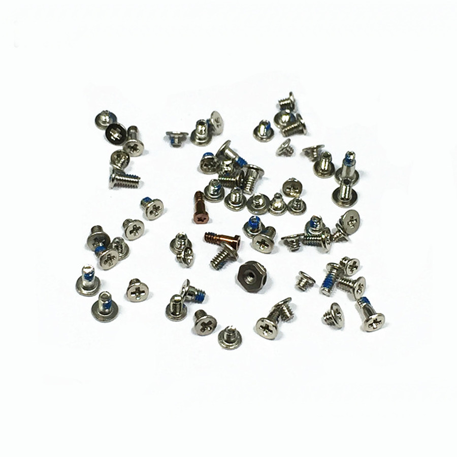Full Replacement Screws For iPhone 7 Screw Set 4.7 inch silver full replacement screw set with o ring for iphone 4