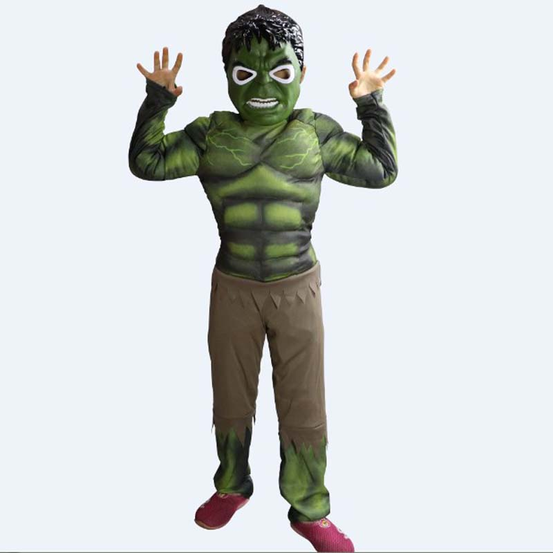 fantasia infantile The Avengers The Hulk Cosplay Halloween Costume for Children Disfraces Christmas Stage performance play dress