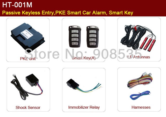 Ht 001m Car Passive Keyless Entry Systempke Car Alarmautomatic