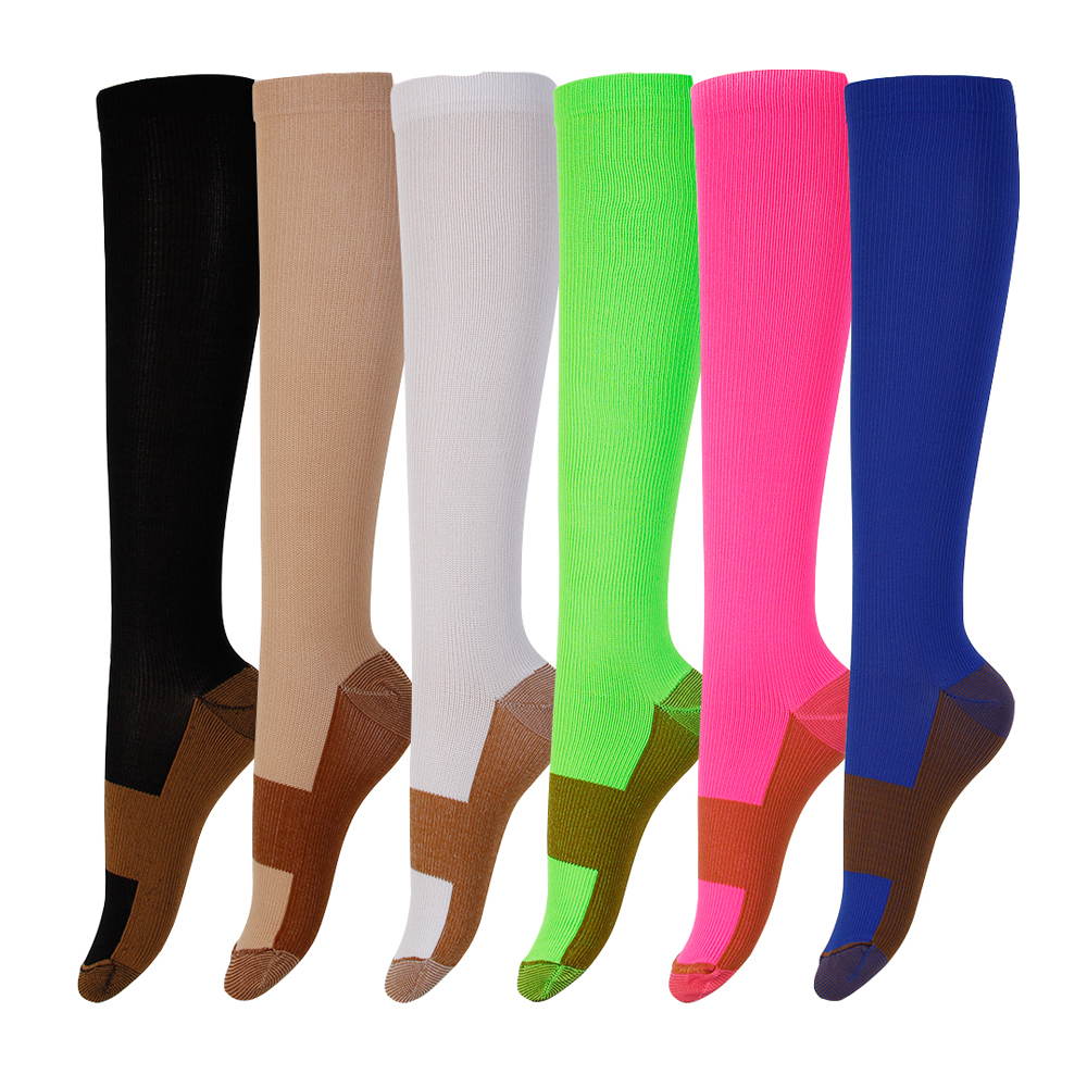 david angie Unisex Copper Compression Socks Women Men Anti Fatigue Pain Relief Knee High Stockings 15-20 mmHg Graduated,1Yc2374(China)