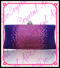 Aidocrystal purple and pink color ladies crystal clutch font b bag b font font b women