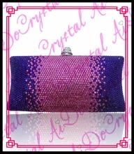 Aidocrystal lila und rosa farbe damen kristall handtasche frauen abendgesellschaft tragen geldbörse