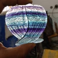 Natural Rainbow Fluorite Gemstone Handmade Carved Angel Wing