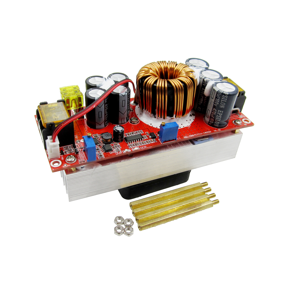 1500W DC-DC Step-up Boost Converter 10-60V to 12-90V 30A Constant Current Power Supply Module LED Driver Voltage Power Converter 1pcs 1500w 30a dc dc cc cv boost converter step up power supply charger adjustable dc dc booster adapter 10 60v to 12 90v module