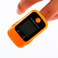 High Quality Portable Finger Tip Pulse Oximeter Blood Oxygen Saturation Monitor Orange Professional Healthcare instrument