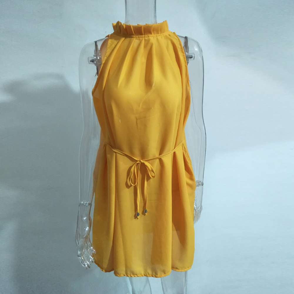 Muiches-2017-Summer-Dress-Casual-Yellow-Sleeveless-Evening-Party-Beach-Dresses-Short-Mini-Women-Dress