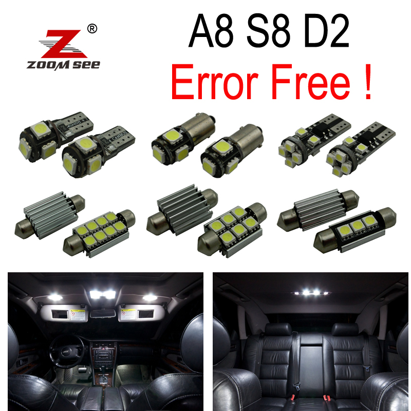 31pc x canbus Error Free LED Bulb Interior Light Kit Package for Audi A8 S8 D2 Quattro (1997-2002) 18pc canbus error free reading led bulb interior dome light kit package for audi a7 s7 rs7 sportback 2012