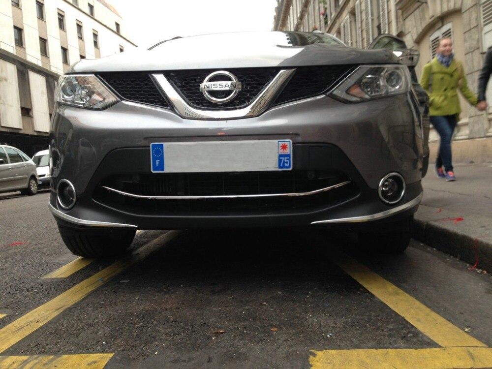 Autocollant de protection de pare-chocs avant automatique pour Nissan Qashqai 2015, accessoires extérieurs automatiques de chrome d'abs, accessoires de voiture - 5