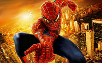 marvel comics spider man super city building photo backdrop High quality Computer print party background