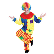 купить Adult Men Naughty Patch Circus Clown Costume Halloween Purim Party Carnival Mardi Gras Masquerade Cosplay Outfit по цене 1093.55 рублей