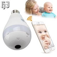 2PCS Mini 1080P 2.0MP Bulb Light Wireless IP Camera Wi-fi FishEye 360 degree CCTV Camera Home Security wifi Panoramic VR HD Cam