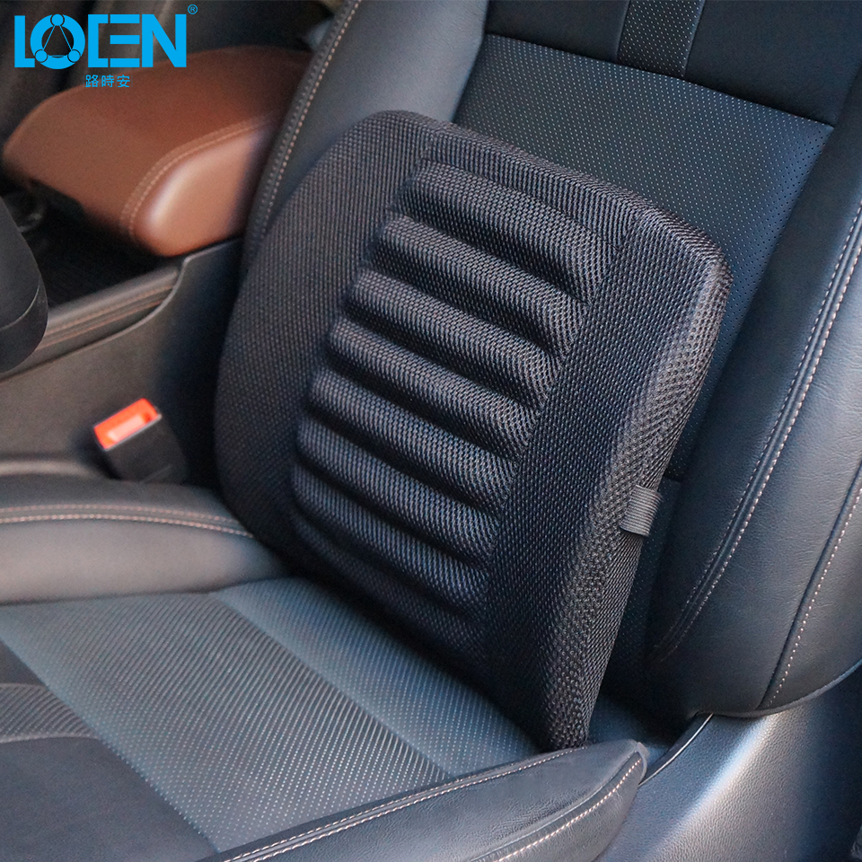 LOEN 2PCS LOT Breathable Mesh Car Seat Black Lumbar Support Pillow Soft Cotton Back Waist Support