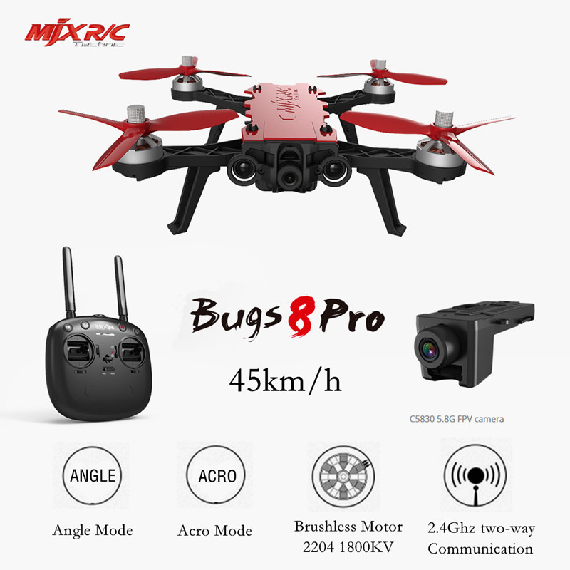 MJX B8 Pro ошибок 8 Pro Радиоуправляемый Дрон Quadcopter бесщеточный с 2204 1800KV двигателя 3D зеркально дистанционного Управление беспилотный игрушки сам...