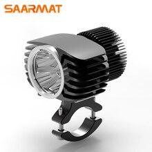 LED мотоцикл фар прожектор 18 Вт 2700Lm супер яркий белый Moto туман DRL Фары охота дальнего света (цельнокроеное платье) SAARMAT