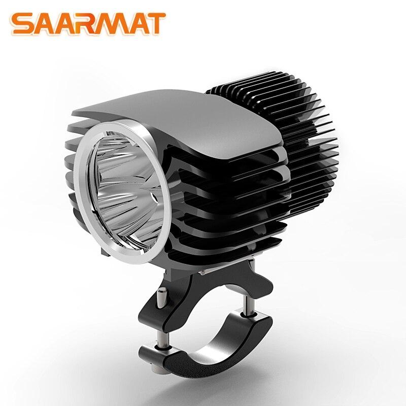 LED Motorrad Scheinwerfer Scheinwerfer 18 watt 2700Lm Super Helle Weiß Moto Nebel DRL Scheinwerfer Jagd Fahren Lichter (1 stück) SAARMAT
