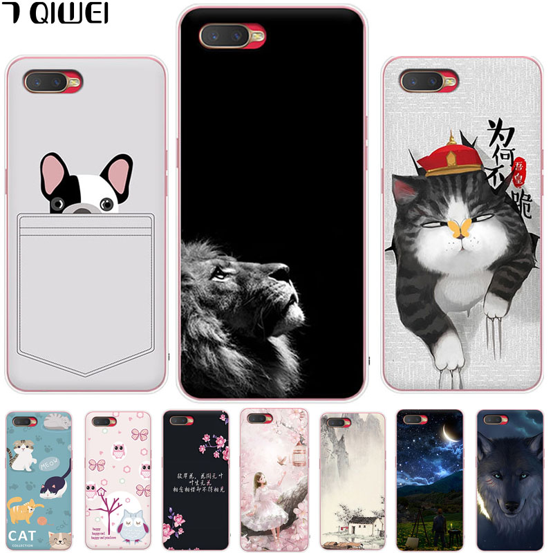 6.4\'\' For OPPO K1 Case Silicone Soft TPU Back Cover For OPPO K1 Case Oppo K 1 Oppok1 Cover Fashion Slim Fundas Painting Para