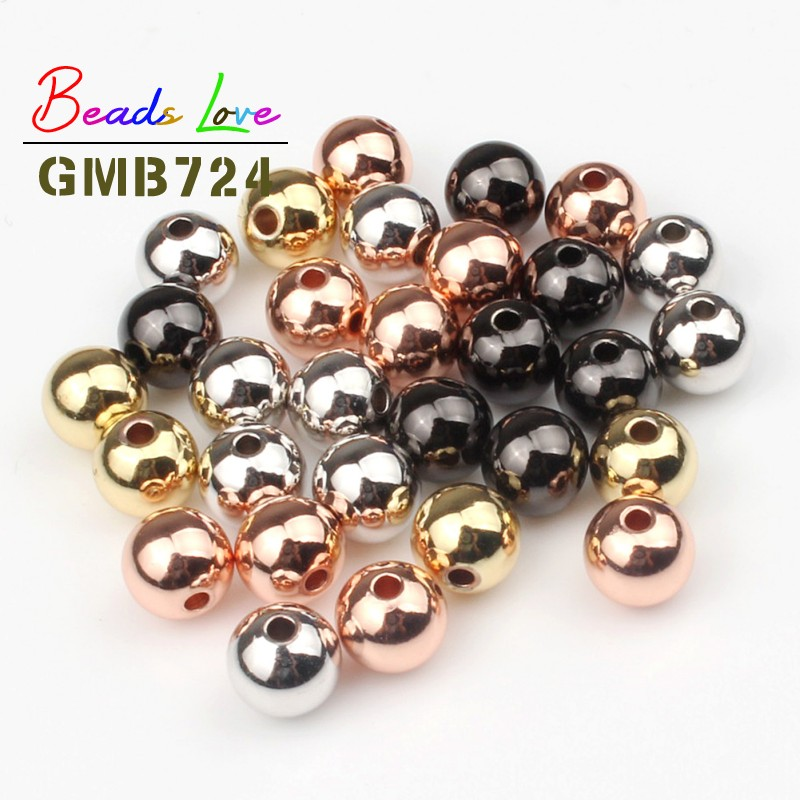 wholesale 1000pcs Antiqued black Hollow Beads charm loose bead 4mm