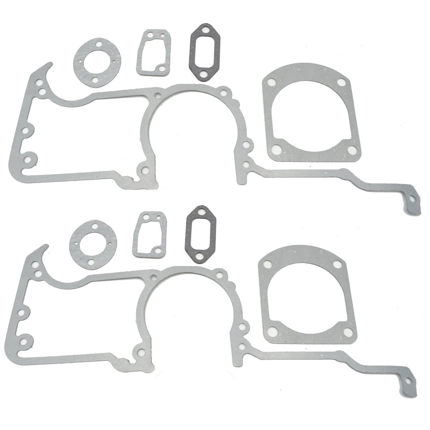 2SETS Chainsaw Crankcase Cylinder Manifold Carburetor Muffler Gasket Kit fits Husqvarna 61 66 162 266 268 272 Replace 501522604 38mm engine housing cylinder piston crankcase kit fit husqvarna 137 142 chaisnaw