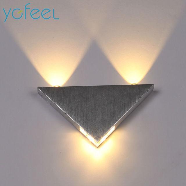 [YGFEEL] Moderne LED Wandleuchte 6 Watt Kreative Atmosphäre Lampe Esszimmer  Wohnzimmer Schlafzimmer Flurbeleuchtung Aluminium