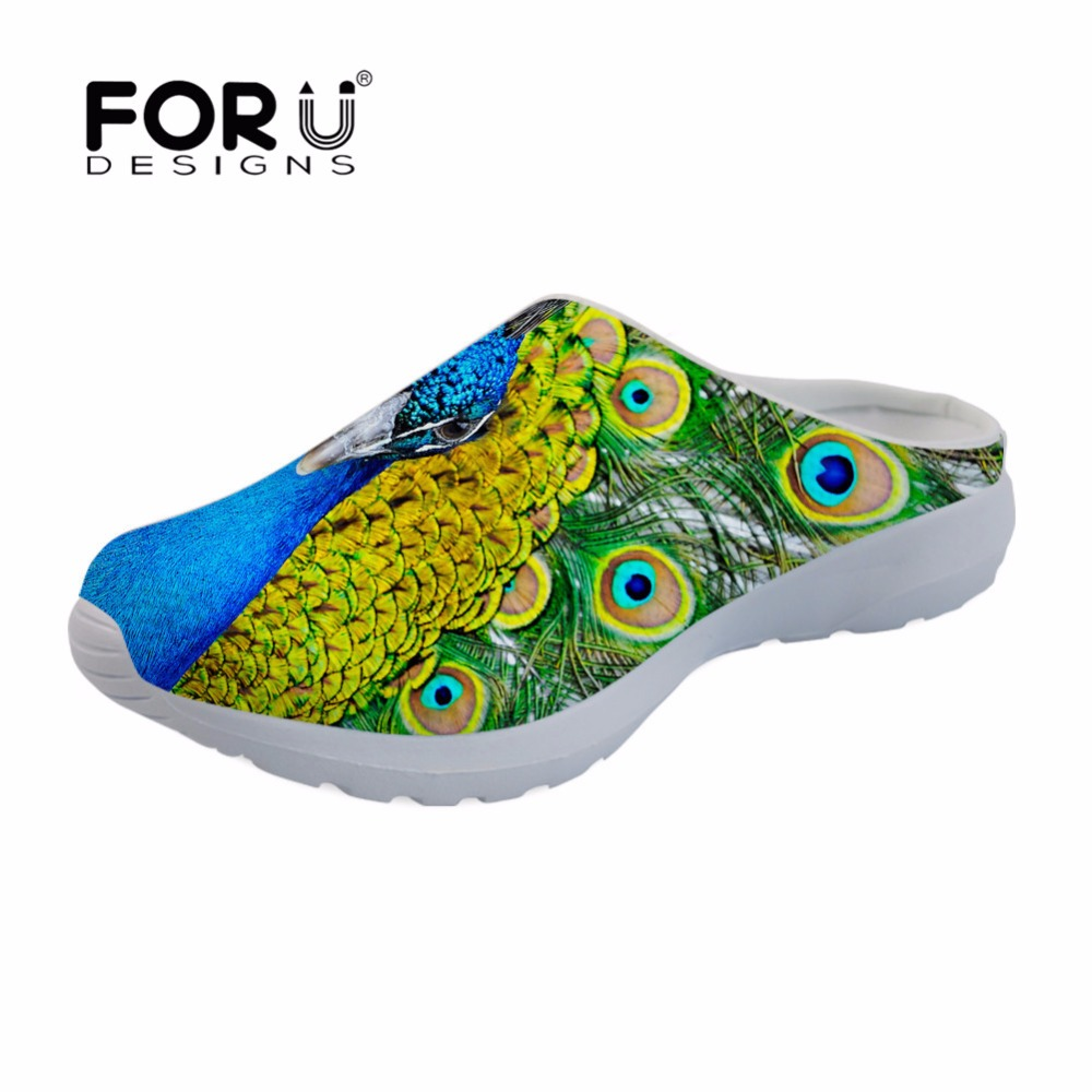 FORUDESIGNS Woman Sandals Slippers Comfortable Flat Fashion Beach Outdoor Casual Mujer