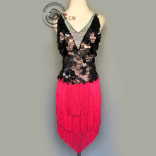 New style latin dance costume sexy sequins tassel latin dance dress for women latin dance compeition dresses A95 S-4XL