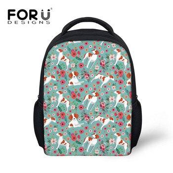 FORUDESIGNS Children Kindergarten Backpack School Bags for Girls Brittany Flower Book Bag Softback Kids Preppy Schoolbag Satchel