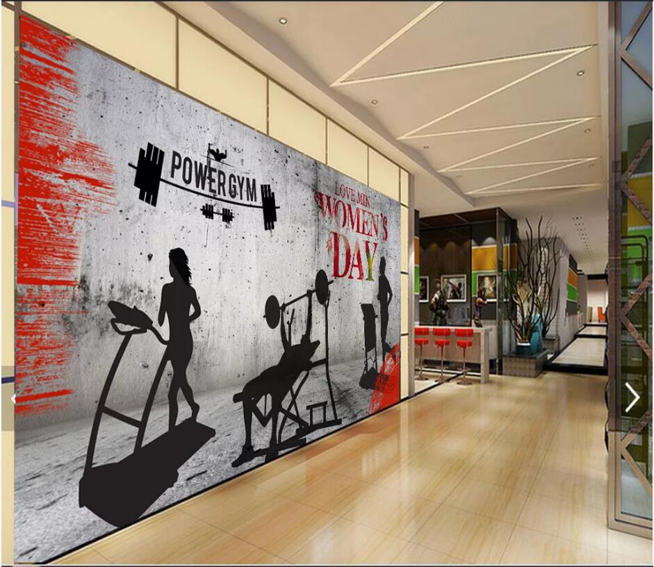 Top products wallpaper gym decoration in gym home