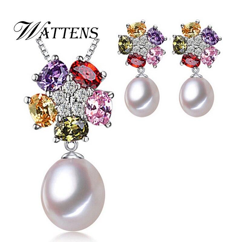 WATTENS Pearl Jewelry Set...