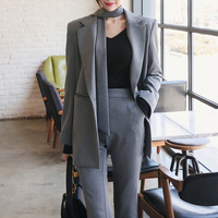 New Korean version of the casual slim small suit jacket nine pants two sets of women's clothing woman suits lady suit office