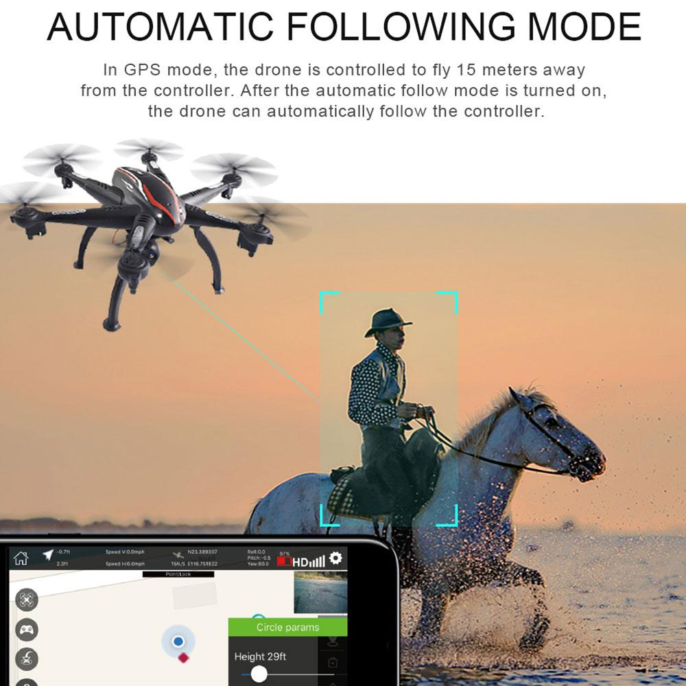 WIFI 1080P 4CH 6Axis Gyro Drone 2GPS Wide Aangle Stable Gimbal Hover LED Funny Toy Beginning Ability Performance Around Aircraft