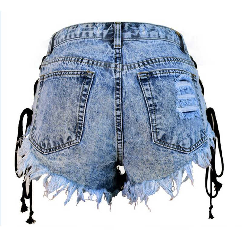 623d4c87d2 ... LOGAMI Denim Shorts Women High Waist Sexy Shorts Summer Micro Mini Jean  New Arrival Short Mujer ...