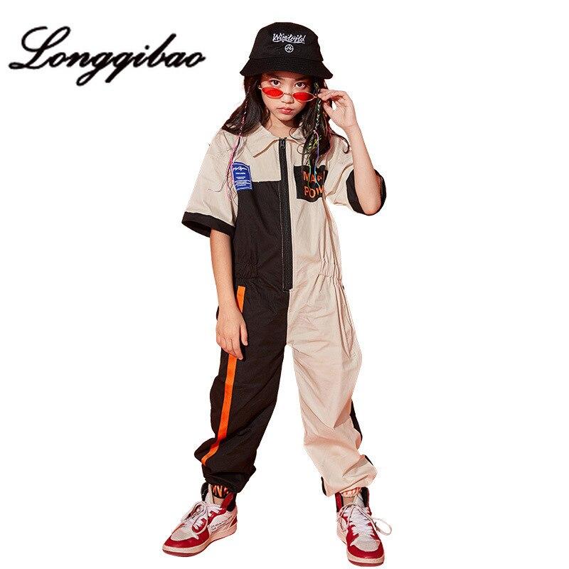 criancas de rua danca terno meninas hip hop bodysuit mare roupas moderno desempenho da danca das