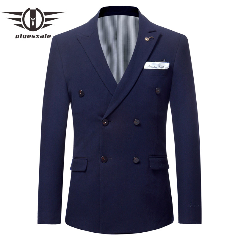 Gray Burgundy Navy Blue Army Green White Double Breasted Blazer Men Slim Fit Wedding Blazers For Men Fashion Embroidery Q559
