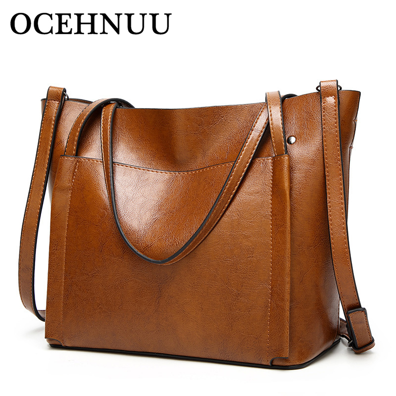 OCEHNUU Fashion Shoulder Bags For Women 2018 Crossbody Female Bolsa Feminina Solid Women's Bags PU Leather Handbag High Quality miwind 2017 new women handbag pu leather female bags fashion shoulder bag high quality 6 piece set designer brand bolsa feminina